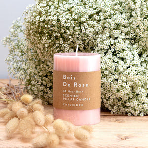 Bois De Rose Pillar Candle - Medium