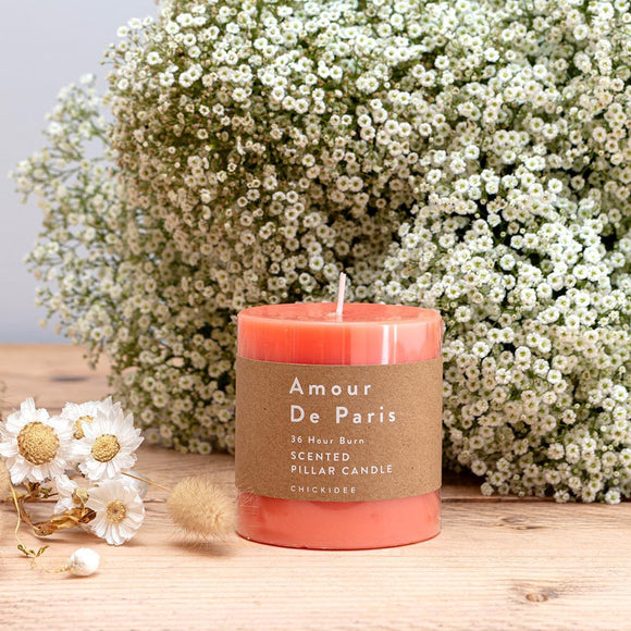 Amour De Paris Pillar Candle - Small
