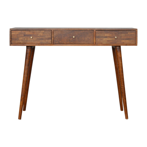 Milan Solid Wood Console Table - Chestnut