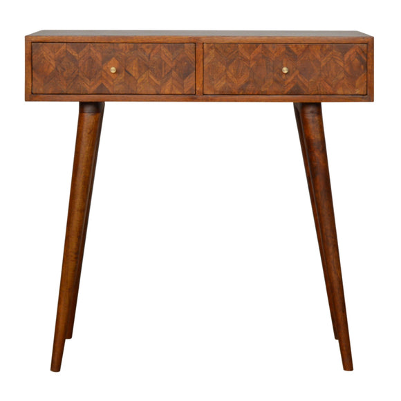 Roma Solid Wood Console Table - Chestnut