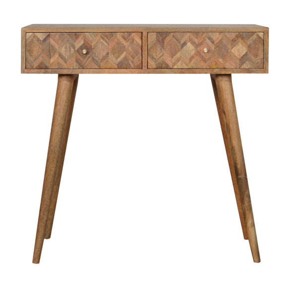 Roma Solid Wood Console Table - Oak