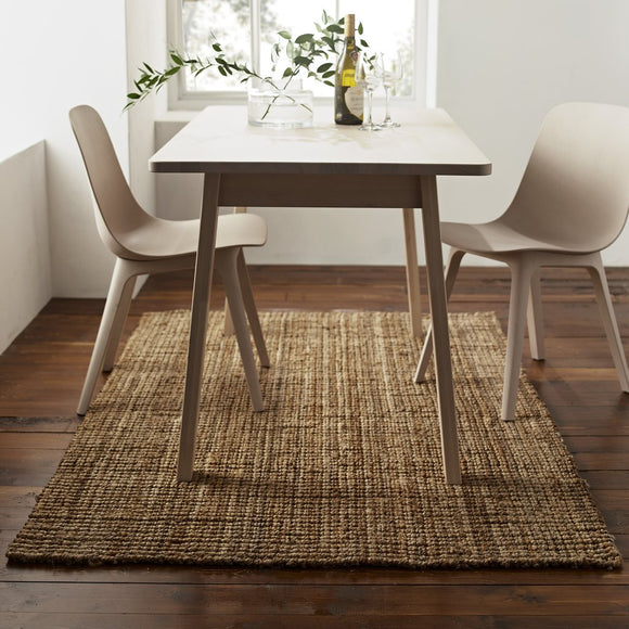 Harvey Collection Rectangle Chunky Jute Rug - Natural