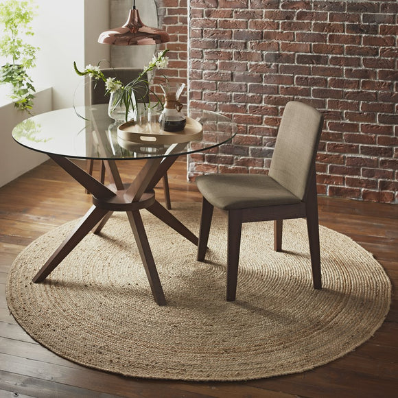 Harvey Collection Round Jute Rug - Natural