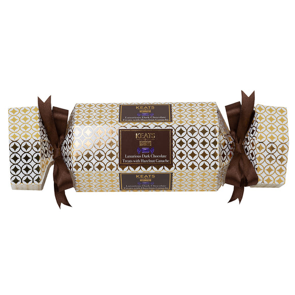 Keats Hazelnut Ganache Treats, Xmas Cracker Box - Dark