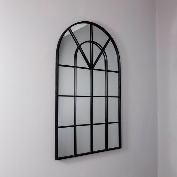 Venice Arched Mirror - Black