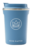 Neon Kactus Stainless Steel Coffee Cup - 12oz Blue