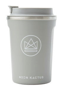 Neon Kactus Stainless Steel Coffee Cup - 12oz Grey