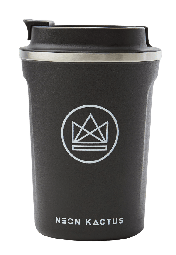 Neon Kactus Stainless Steel Coffee Cup - 12oz Black
