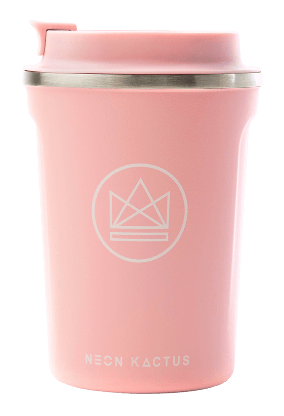 Neon Kactus Stainless Steel Coffee Cup - 12oz Pink