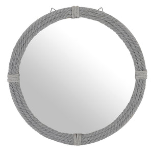 Round Rope Mirror - Grey