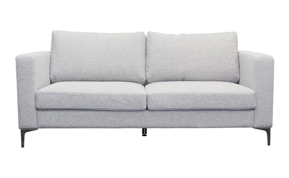 Harvey Collection Rona 3-Seater Sofa - Light Grey