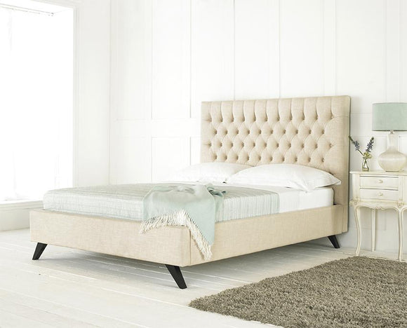 Westminster Luxurious upholstered Bed Frame - Cream