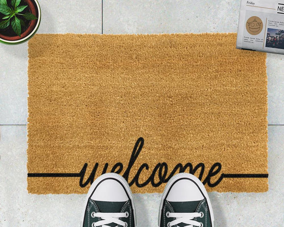 Curly Welcome doormat