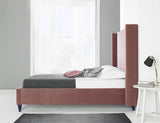 Camden Pink Velvet Luxurious upholstered Bed Frame
