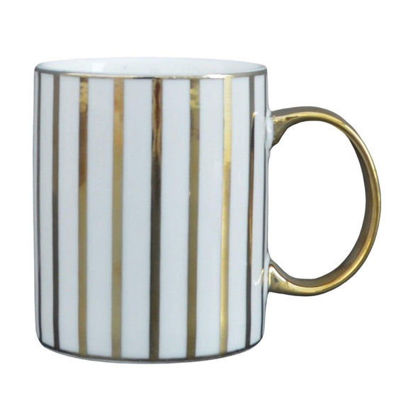 Stripy Mug - Gold Electroplated