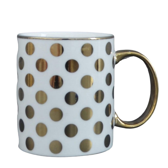 Spotty Mug - Gold Electroplated