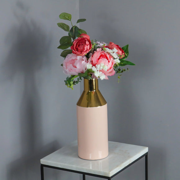 Gold Stem Living Pink Vase