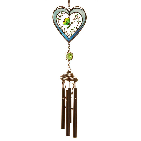 Heart Windchime - Blue