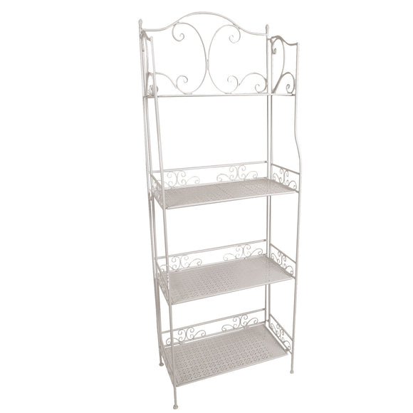 The Canterbury Garden Plant Shelves - White
