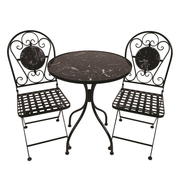 The Paris Bistro Set - Black Marble