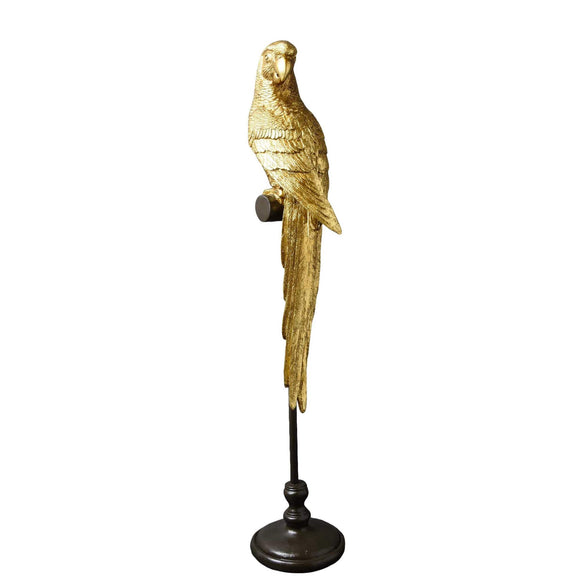Ornemental Parrot on stand - Gold & Black