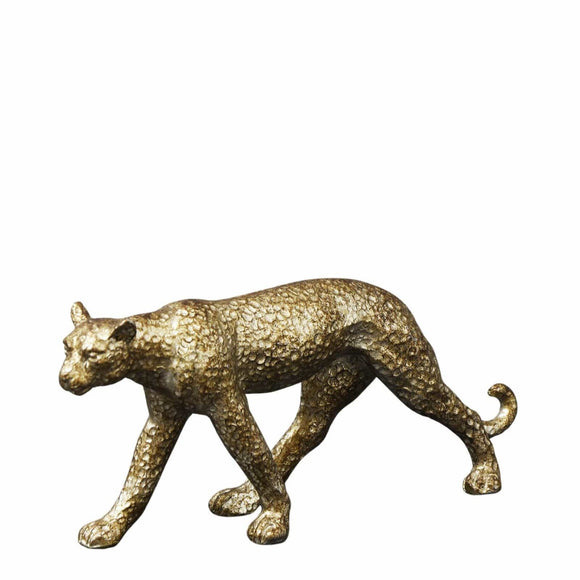 Christines Standing Leopard Ornament - Distressed Gold