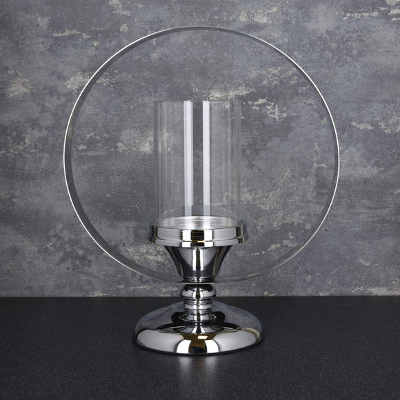 Stainless Steel Candle Holder Silver - 35cm