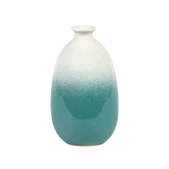 Dipped Glaze Vase - Turquoise Ombre