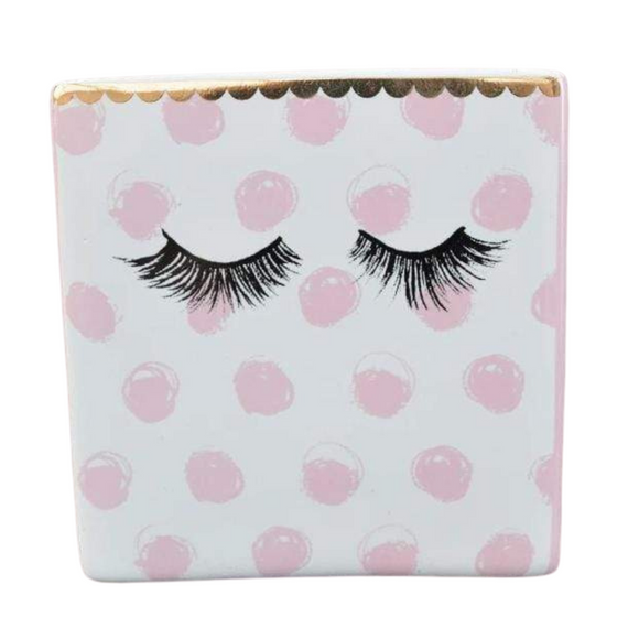 Eyelash Tumbler - Pink and Gold