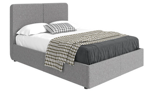 Milan Luxurious upholstered Bed - Grey