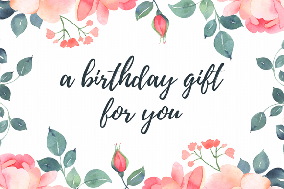 Gift Voucher - Birthday Gift