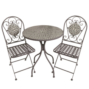 The Paris Bistro Set - Grey