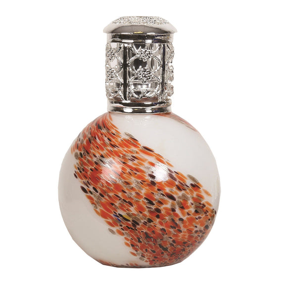 Hot Stone Fragrance Lamp - All Glass Orange Swirl