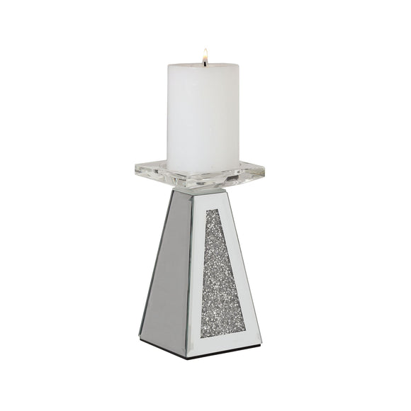 Jewelled Pillar Candle Holder - 17.5cm