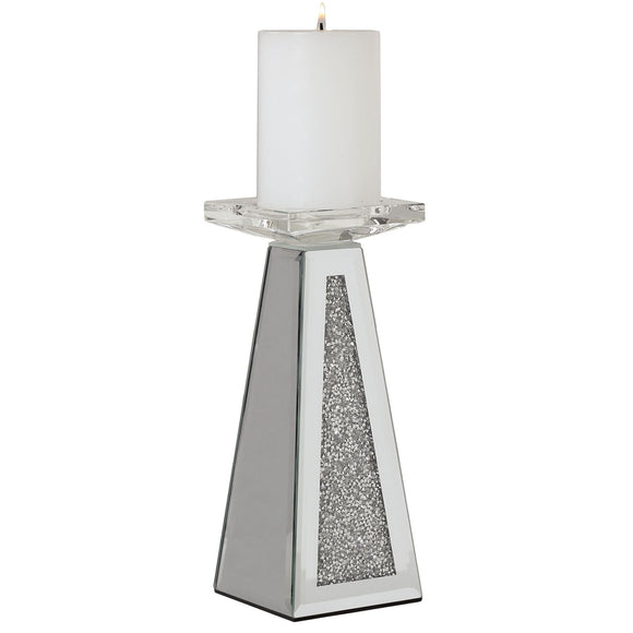 Jewelled Pillar Candle Holder - 22.5cm