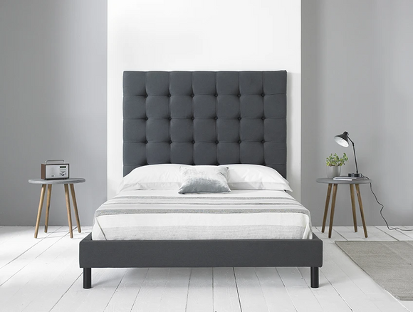 Sicily upholstered Bed Frame - Grey