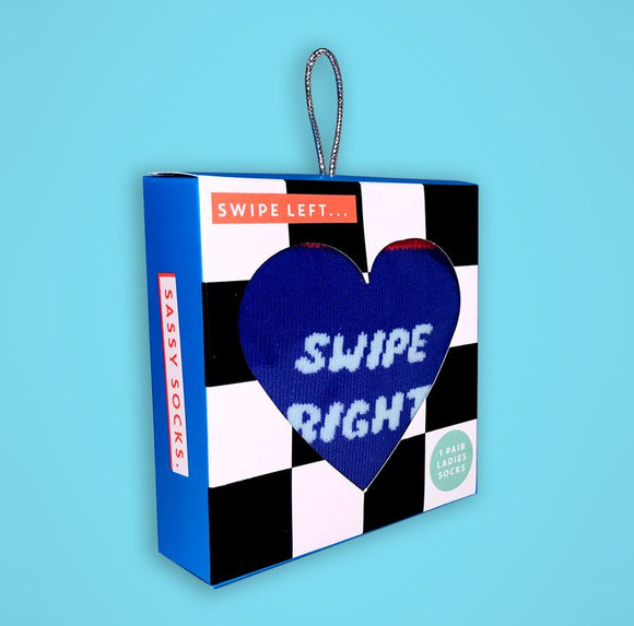 Swipe Left & Right Socks Gift Set