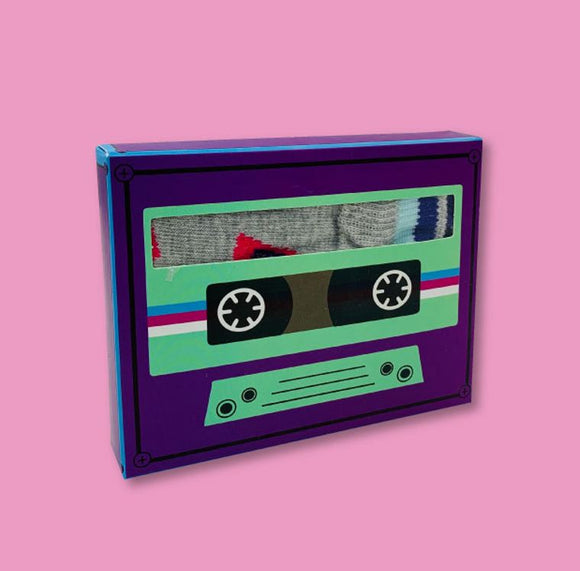 Retro Cassette Socks Gift Set