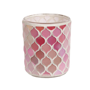 Mosaic Tea Light Holder - Pink