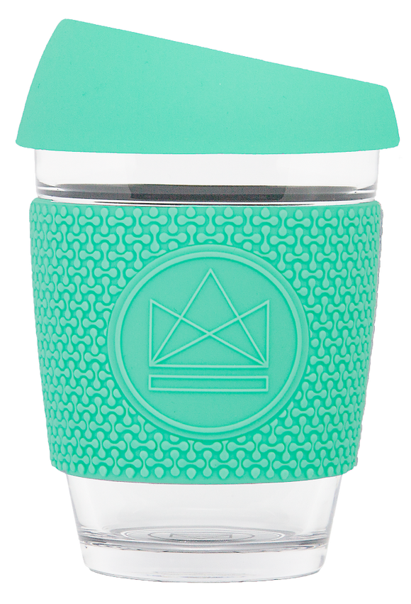 Neon Kactus Reusable Glass Cup - Free Spirit