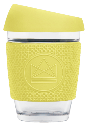 Neon Kactus Reusable Glass Cup - Sun Is Shining