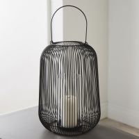 NH Black Candle Lantern - Large