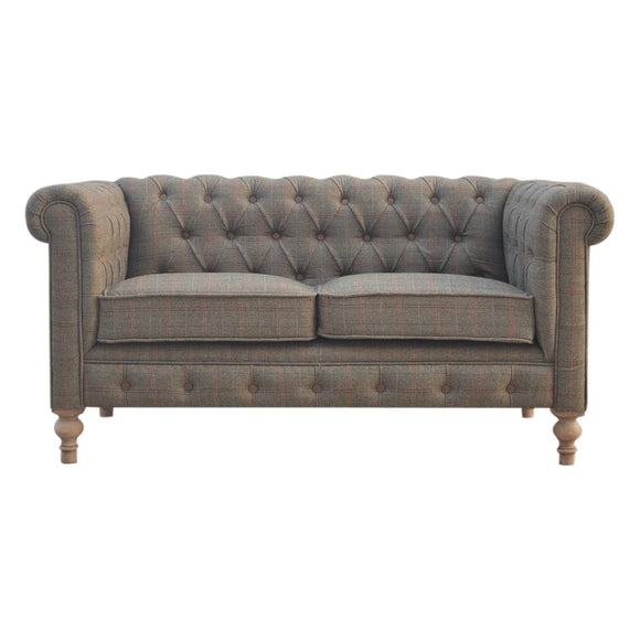 Country Collection 2 Seater Chesterfield Sofa - Multi Tweed