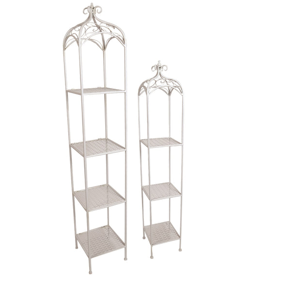 The Venice Garden Plant Shelves Set - White