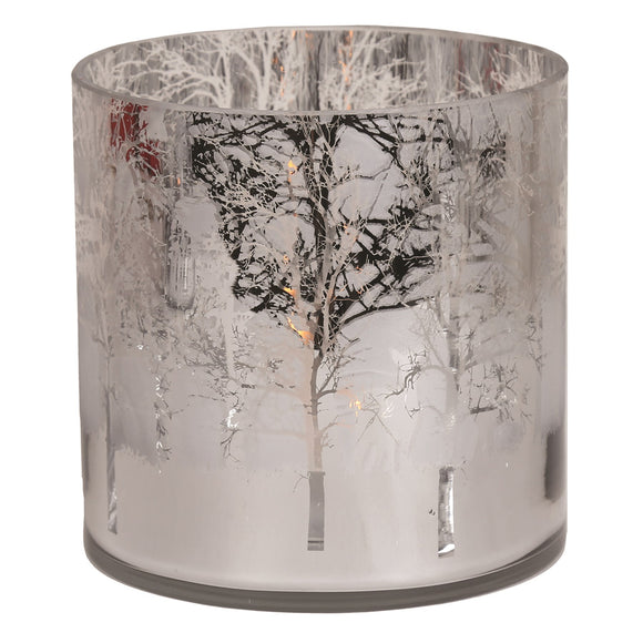 Silver Hurricane Candle Holder - 15cm