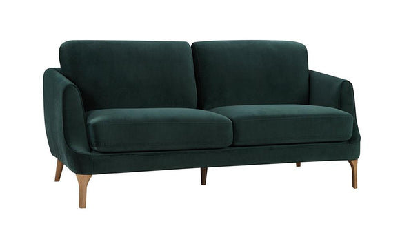 Gusto 2-Seater Velvet Sofa - Forest Green