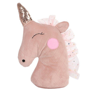 Unicorn Doorstop - Pale Blush