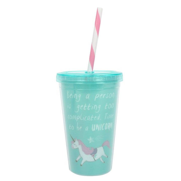 Unicorn Drinking Cup - Blue