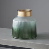 NH Verde Gold Trim Candle/Plant Holder - Large