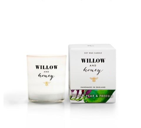 Willow & Honey Candle - French Pear & Freesia 60g